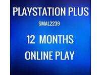 Playstation Plus 12 Months Membership PS4 PS3 NO CODE READ DESCRIPTION