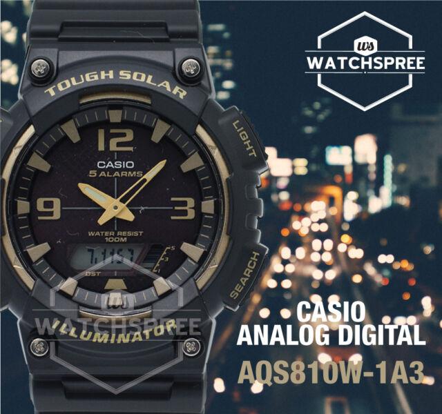 Casio Analog Digital Tough Solar Watch AQS810W-1A3 AQS-810W-1A3