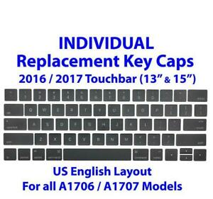 Individual Replacement Keyboard Caps for Apple Macbook Pro A1706 A1707 13 & 15-inch Touchbar US English Keycaps Keys Key