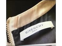 GIVENCHY Wool stretch dress with leather trim