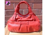 RADLEY 'Ealing' Small Red Leather Bag - Pristine Condition
