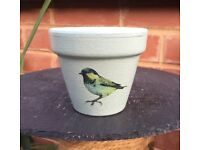 Hand-decorated plant pot - perfect affordable gift!