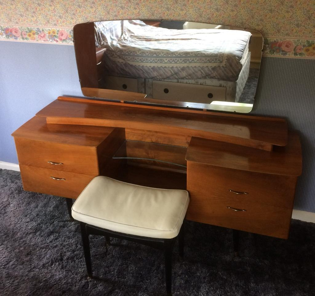 Vintage Dressing Table With Nathan Furniture Stool