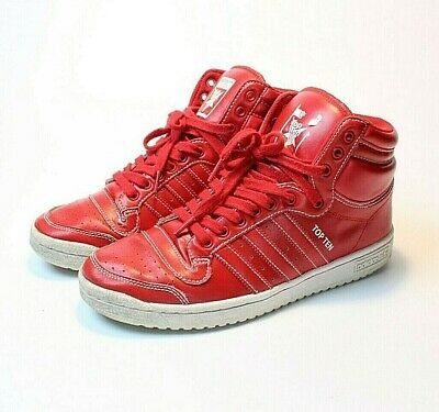 Adidas Top Ten Basketball Shoes - Adidas Top Ten Red Men's Size 8.5 F37589 Basketball Shoes