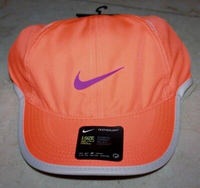 4da92ca7c5b0a NWT Women s NIKE Dri-Fit AeroBill Featherlight Tennis Cap Neon Orange - One  Size