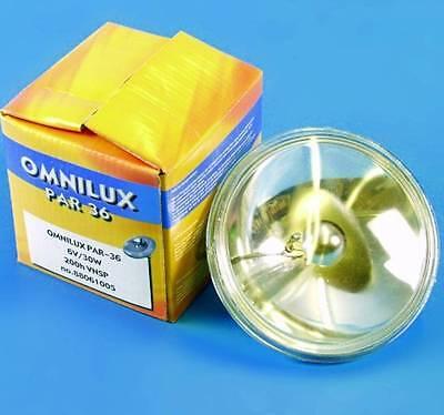 PAR 36 6V / 30W, PAR36, G53 Sockel, VNSP, PINSPOT PIN-SPOT halogen Lampe OMNILUX Par 36 Pin Spot