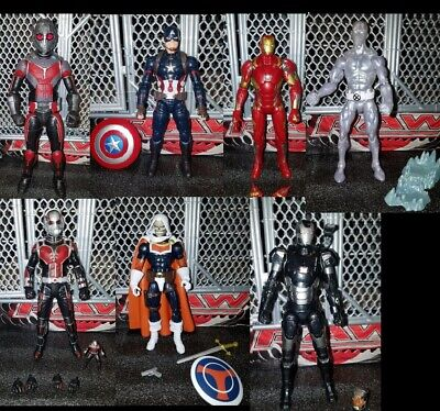 Hasbro Marvel Legends action figure lot Captain America Iron Man Giant BAF X-Men