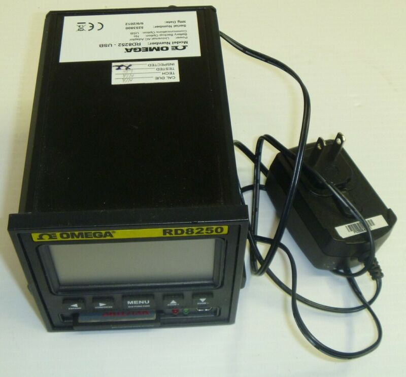 Omega RD8252-USB 2 Channel Paperless Recorder,Data Logger,Temperature, RD8250