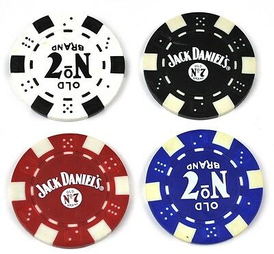 Jack Daniel's Whiskey Old No. 7 USA Poker Chips Münzen Coins Token  (Whiskey Chips)