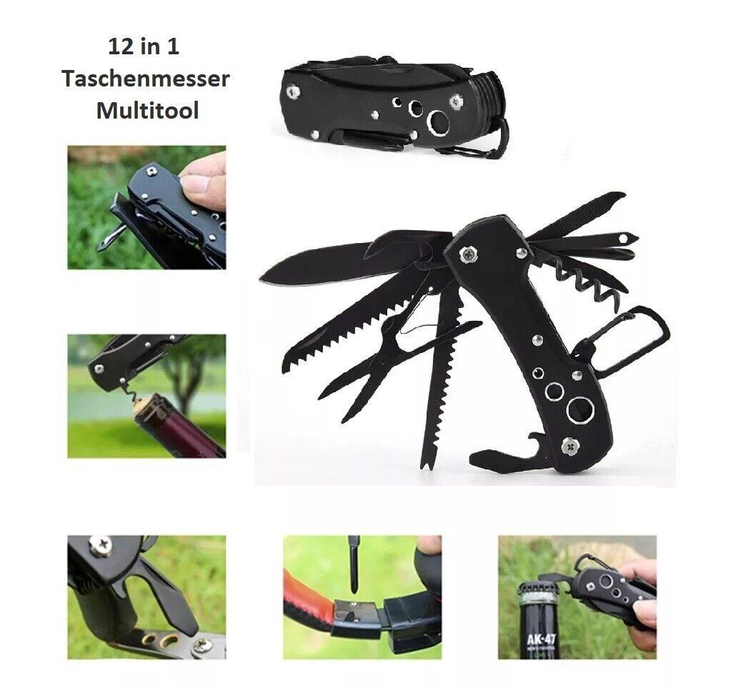 Taschenmesser 12 Funktionen Schweizer Camping Angeln Outdoor Messer Säge Schere