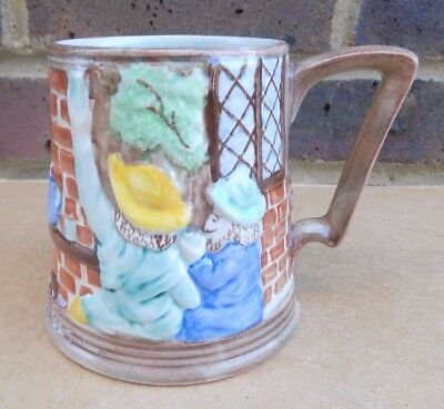 H.J. WOOD BURSLEM Pottery Hand Painted Tankard - Pub Scene