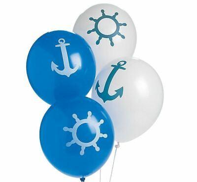 "NEW Nautical Print 11"" Latex Balloons FREE SHIPPING"