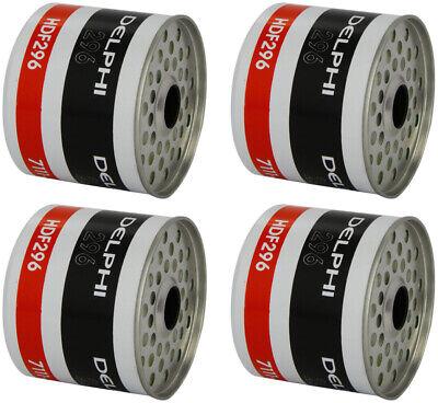 4x Delphi Fuel Filter With Seals HDF296 - Trade Deal