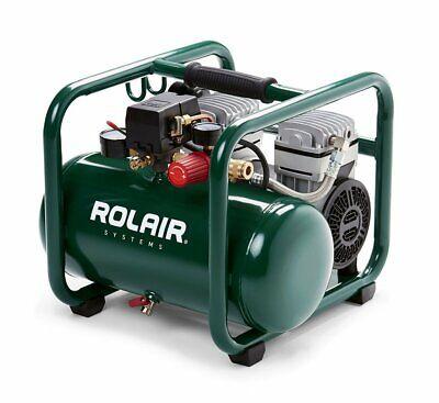 Rolair JC10 Super Quiet 1HP Oil Less 2.5 Gallon Air Compress