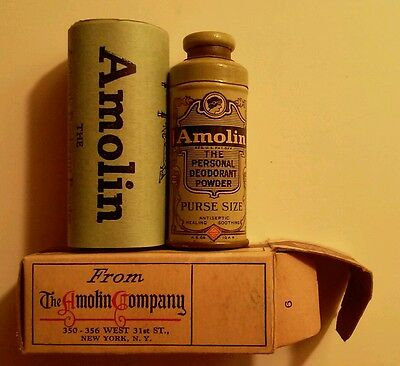 1920s Handbags, Purses, and Shopping Bag Styles 1920's AMOLIN FEMININE ANTISEPTIC DEODORANT POWDER PURSE SAMPLE SIZE TIN BOXED $14.99 AT vintagedancer.com