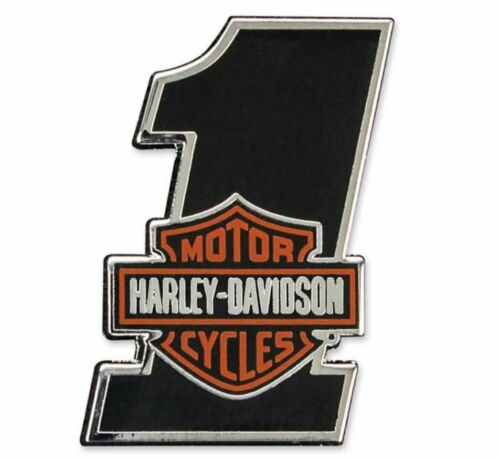 Harley-Davidson® #1 Bar & Shield Logo Cloisonne Hard Enamel Vest Pin