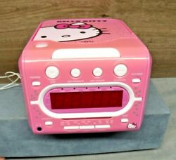 HELLO KITTY Stereo CD Player AM/FM Dual Alarm Clock Radio