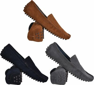 Mens New Leather Suede Slip On Casual Moccasin Designer Loafer Driving Shoe Size