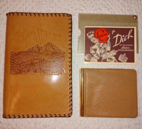 Vintage Berchtesgaden Germany Leather Wallet Billfold Souvenir Mit Watzmann New