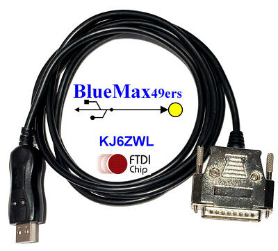 Cnc Dnc Ftdi Usb To Db-25 Male Null Modem Cable Software Flow Control Cnc-sw-25m