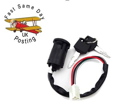 Universal Motorcycle Ignition Switch & 2 Key 4 Wire For Quad car bike fits most