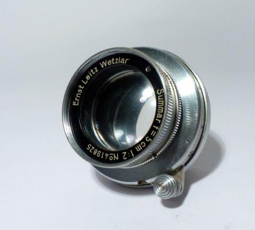 Leica Leitz Summar 5cm/50mm f2 L39 M39 Screw Mount Lens