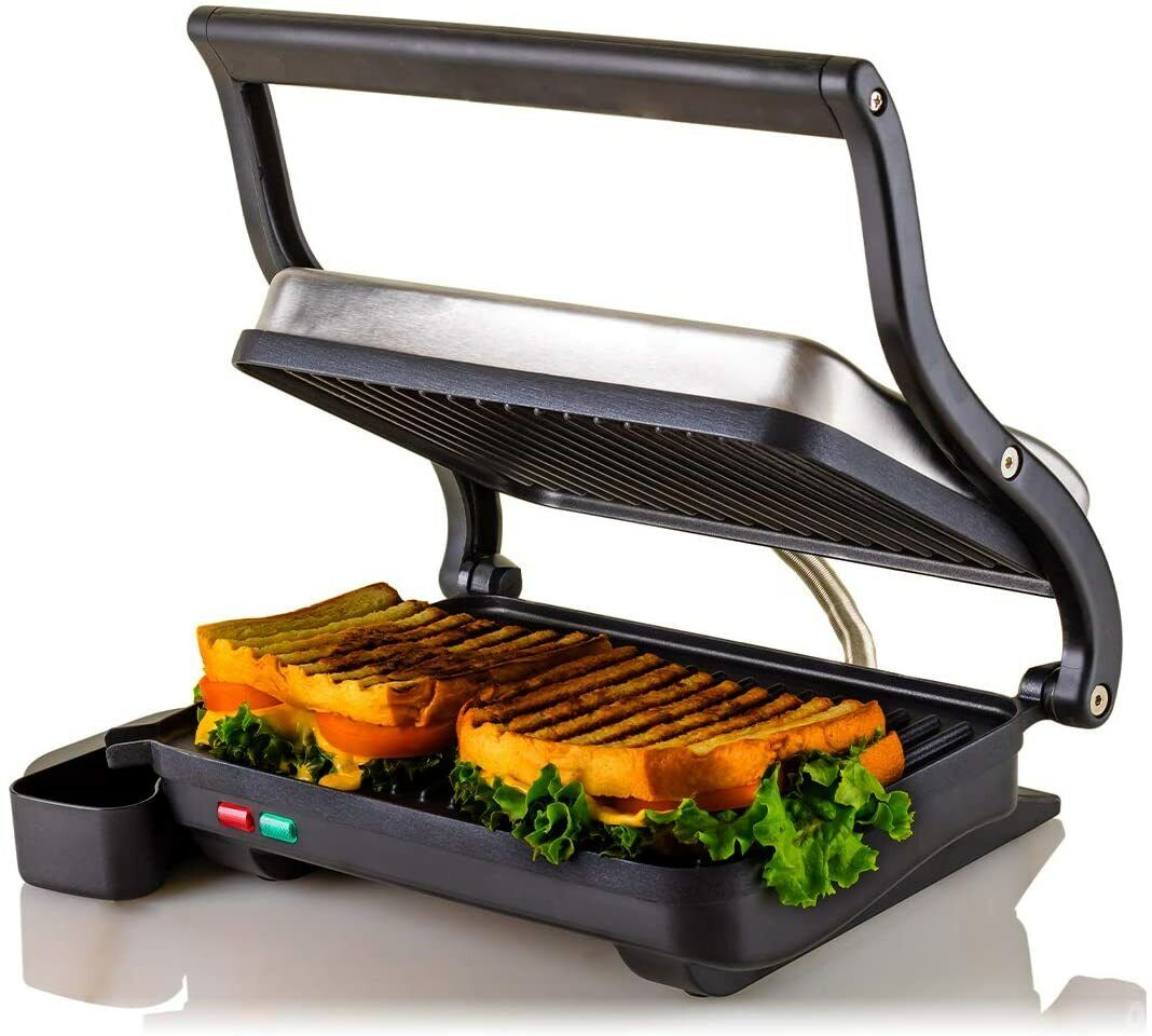 Ovente 2-Slice Electric Panini Press Grill and Gourmet Sandw