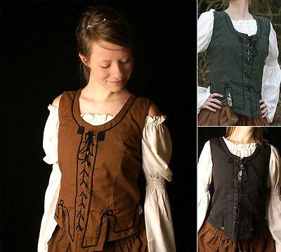 Battle Merchant Miederweste aus Baumwolle Mieder Weste Mittelalter LARP - Mieder Baumwolle Kostüm