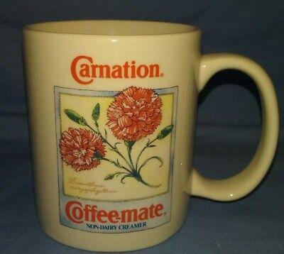 1993 Carnation Coffee-Mate Creamer Coffee Mug Collector's Series Botanical Mugs Carnation Coffee Mate Coffee Creamer