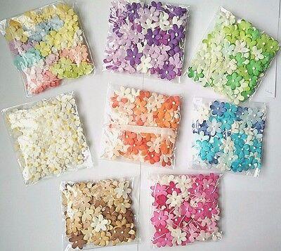 100 Blossom Flower Mulberry paper Wedding Scrapbooking Card Crafts DIY  2 cm  (Paper Flower Crafts)