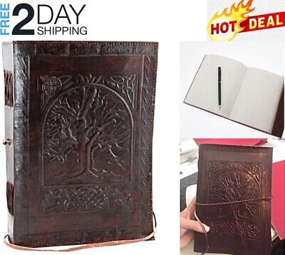 Vintage Leather Craft Journal Tree Of Life Antique Notebook Men Women Gift Diary Life Leather Journal