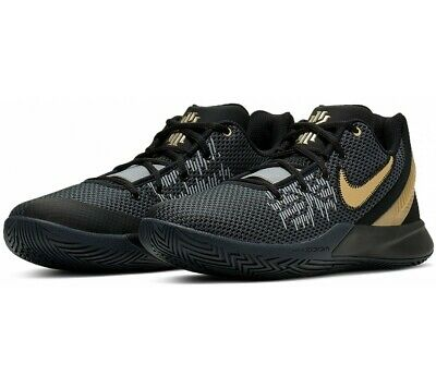 Men's Nike Kyrie Flytrap II Basketball Shoe Black/Gold Sizes 8-13 NIB AO4436-004