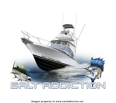 Salt Addiction Fishing t shirt,Saltwater shirt trolling fishing boat offshore Offshore Boat T-shirt