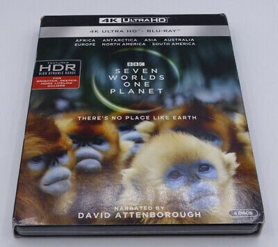 SEVEN WORLDS ONE PLANET 4K ULTRA HD + BLU-RAY NEW SEALED