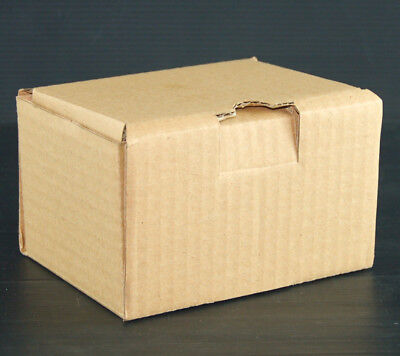 Small Brown Cardboard Mailing Box Hinged Lid 4.3