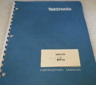 Tektronix 24452465 Oscilloscope Mod Sg Instruction Manual 052-484-b