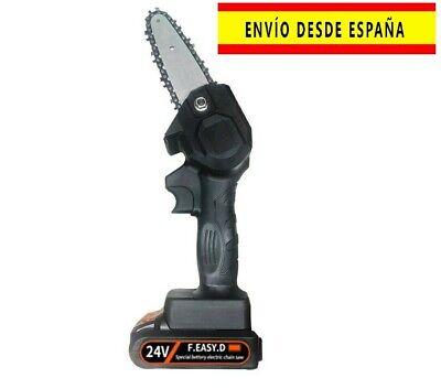 Sierra de poda eléctrica portátil de 24V motosierra carpintería, recargable