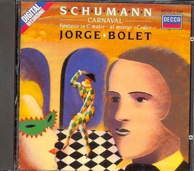 Usado, SCHUMANN - Carnaval / Fantasie - Jorge BOLET - Decca WG PDO segunda mano  Embacar hacia Argentina