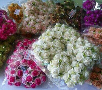 100 Rose Flower Mulberry Paper Wedding Scrapbooking Card Crafts 15 mm many color (Paper Flower Crafts)