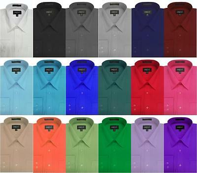NEW Boys Solid Long SLeeve Dress Shirts, 20 Colors - Boys Dress Clothes