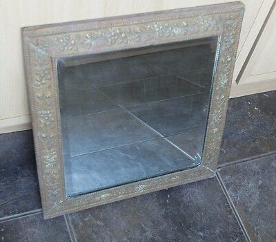 Old brass mirror