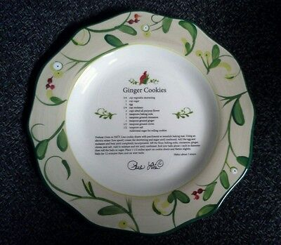 Paula Deen At Home Collector Plate Home for the Holidays Ginger Cookies ()