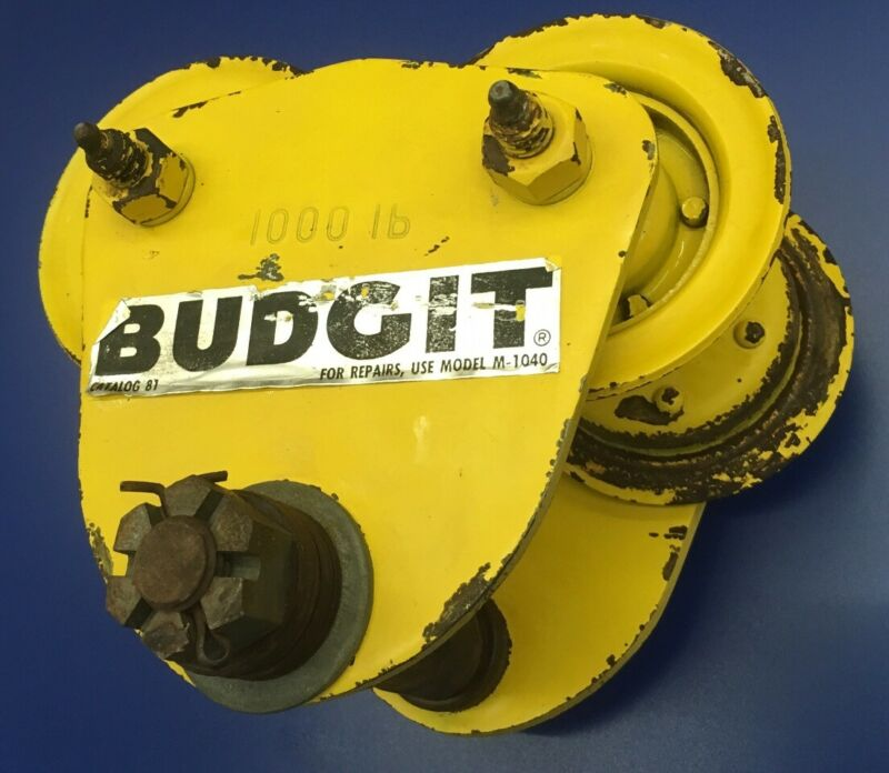 Budgit 1/2 TON Trolley 1000 lb. capacity, Model No.  M-1040