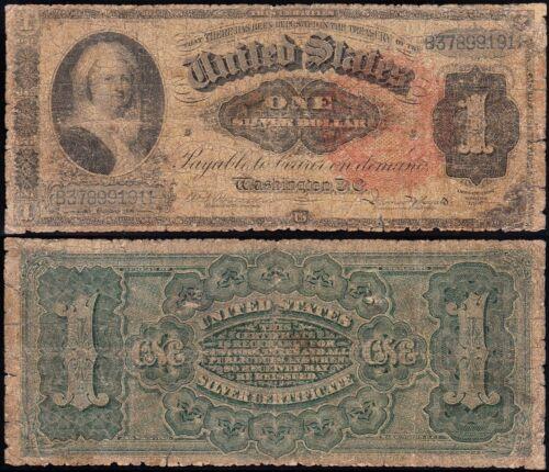 "Circulated 1886 $1 Ornate Back ""MARTHA"" Silver Certificate! FREE SHIP! B37899191"