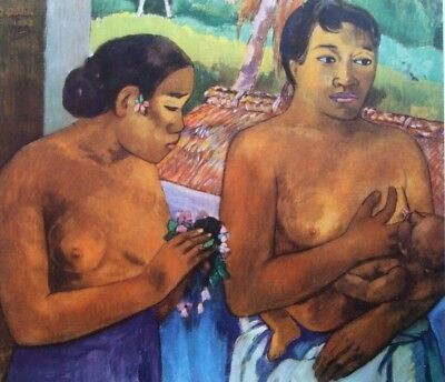 "PAUL GAUGUIN vintage mounted repro print, 14 x 11"", XXe Siècle, 1960, X15005"