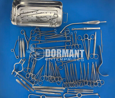Basic Laparotomy Set With Sterilization Box Premium Quality Surgical Instrument