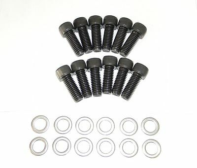 Black Oxide Intake Manifold Bolts (Chevy Small Block Allen Black Oxide Grade 8 Intake Manifold Bolt Kit NEW )