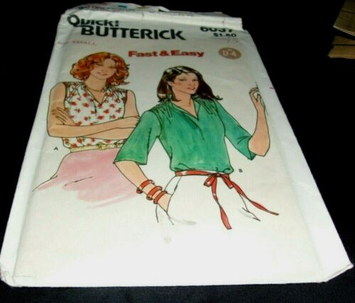 Butterick 6037 Fast & Easy Misses Blouse Small   C&C