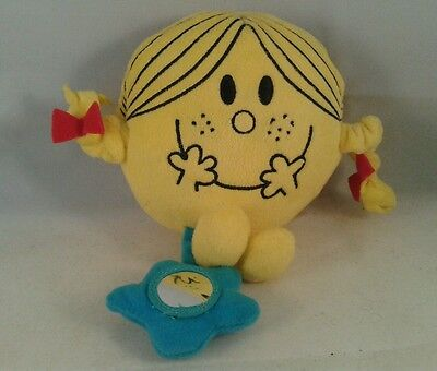 "Official MR MEN / LITTLE MISS 6"" MISS SUNSHINE Cuddly Soft Plush Toy Rattle"