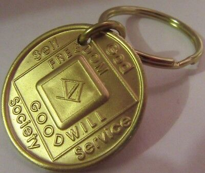 NARCOTICS ANONYMOUS  NA KEY TAG  6  YEAR Keyring medallion Serenity Clean for sale  Shipping to Canada